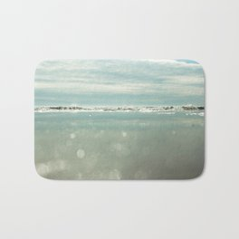 waves and sparkles Bath Mat