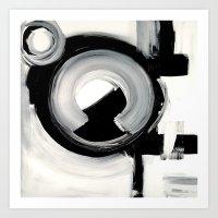 clockwork Art Prints featuring CLOCKWORK  by Linnea Heide