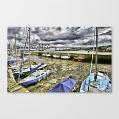 South Queensferry Harbour, Scotland Canvas Print