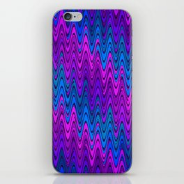 WAVY #2 (Purples, Violets & Turquoises) iPhone Skin