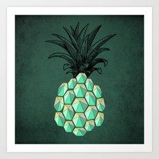 pineapple anatomy 4 Art Print