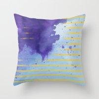 rorschach Throw Pillows featuring Rorschach by Sonia Garcia
