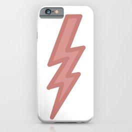 Dark Pastel Lightning (Red) iPhone Case