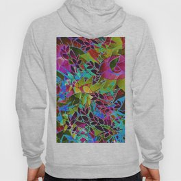 Floral Abstract Artwork G544 Hoody