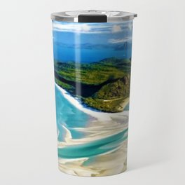 Crystal white sands and turquoise blue waters of Whitehaven Beach – Australia Travel Mug