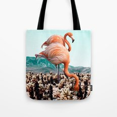 Flamingos In The Desert #society6 #artprints #flamingo Tote Bag
