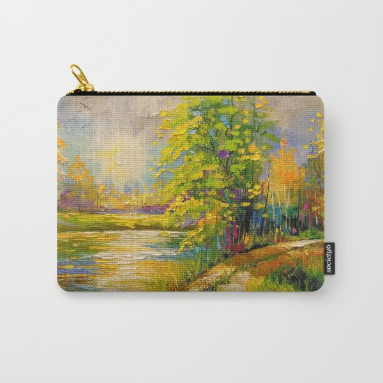 At sunset by the river Carry-All Pouch