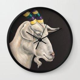 Mardi Gras Goat Wall Clock