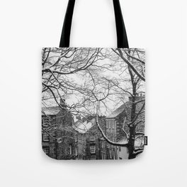 Winter Scenic of Castle Street, Lancaster. Tote Bag