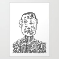 picasso Art Prints featuring Picasso by Octopiece