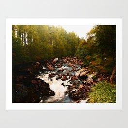 Scottish Waterfall Art Print