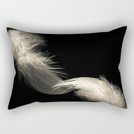 Two feathers in black and white Rectangular Pillow