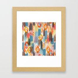 VIVID IKAT Framed Art Print