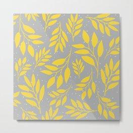 Illuminating Leaf pattern Metal Print