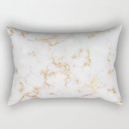 Gold Nugget Marbled Veins on Creme Fraiche Rectangular Pillow