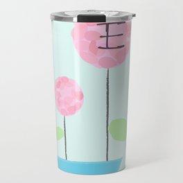 Flower E Travel Mug