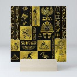 Ancient Egyptian Sphinx Anubis Hieroglyph Mini Art Print