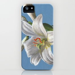 White lily flower iPhone Case