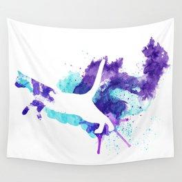 Watercolor Splat Cat Wall Tapestry