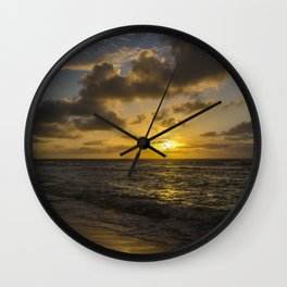 Golden Sunrise by Teresa Thompson Wall Clock