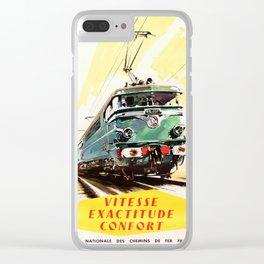 Vitesse Exactitude Confort Clear iPhone Case