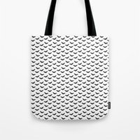 bats Tote Bags featuring Bats by Kya Owl
