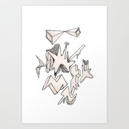 MORE SHAPES Art Print