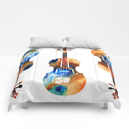 Violin Art By Sharon Cummings Comforters