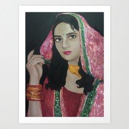 Pakistani Bride Art Print
