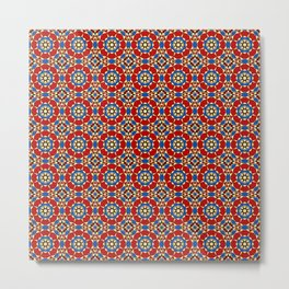Moroccan Tile 2B - Red Metal Print