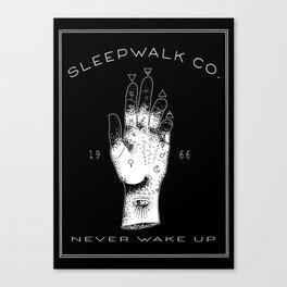 Sleepwalk Palmistry Canvas Print