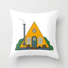 Cabin Living Throw Pillow