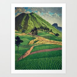 Crossing people's land in Iksey Art Print