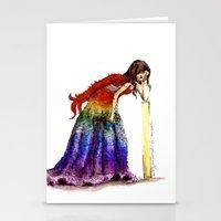 steve mcqueen Stationery Cards featuring McQueen  by Emilia Igartúa Vellatti