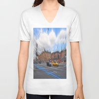 street V-neck T-shirts featuring street by  Agostino Lo Coco
