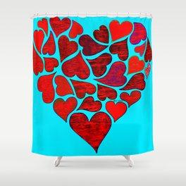 Valentines at Tiffanys Shower Curtain