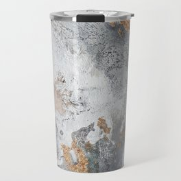 Gold, black and white abstract painting Travel Mug