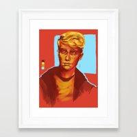 kieren walker Framed Art Prints featuring Kieren Walker by charlotvanh