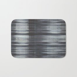 Rain Streaked Metal Stripes Bath Mat