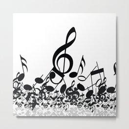 Music Note's BW 2 Metal Print