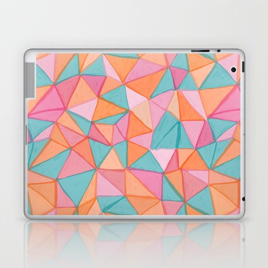 watercolor triangles Laptop & iPad Skin