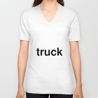 truck V-neck T-shirts featuring truck by linguistic94