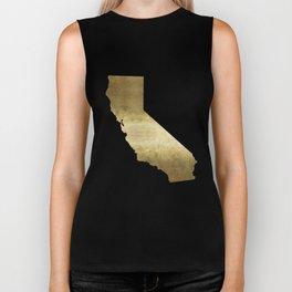 california gold foil state map  Biker Tank