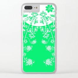 floral ornaments pattern wbm60 Clear iPhone Case