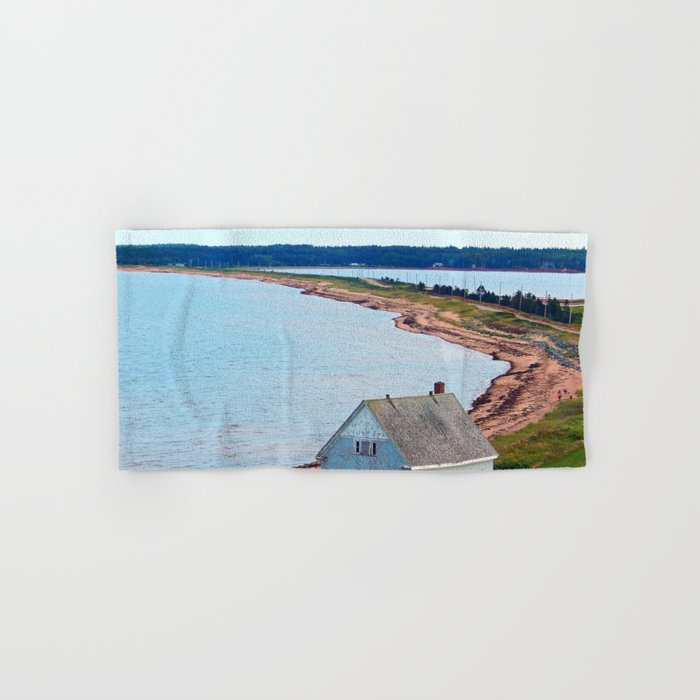 Beach and Causeway, seen from Above Hand & Bath Towel