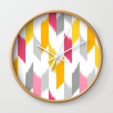 Ikat Stripes Wall Clock