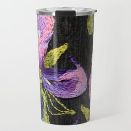 Embroidered callas Travel Mug