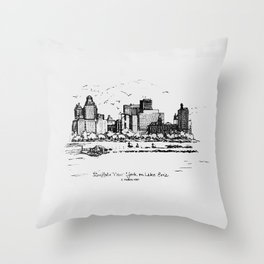 Buffalo By AM&A's 1987 Throw Pillow