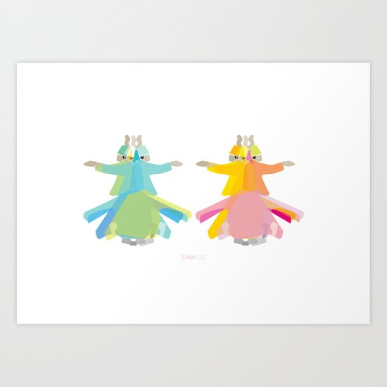 Mevlana - Whirling Dervish Art Print