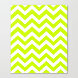 Volt - green color - Zigzag Chevron Pattern Canvas Print